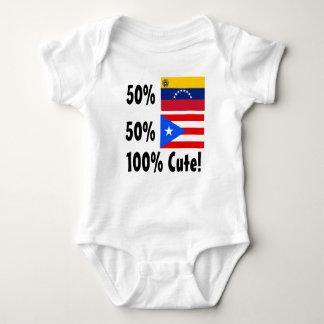50% Venezuelan 50% Puerto Rican 100% Cute Baby Bodysuit