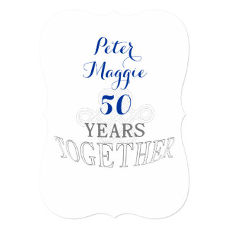 50 Wedding anniversary Card