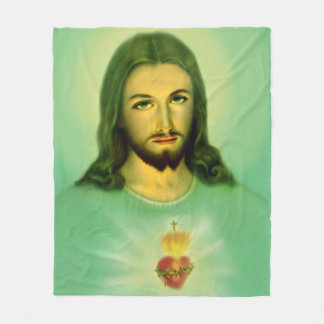 "50""x60"" Sacred Heart of Jesus Fleece Blanket"