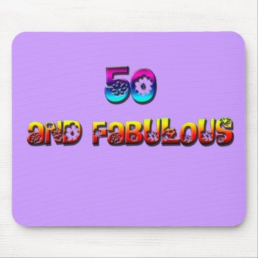 50 y arco iris fabuloso tapete de ratones