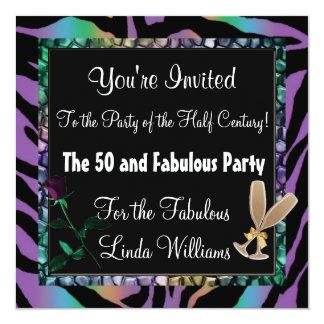 """50 y colección fabulosa de la diversión de la invitación 5.25"""" x 5.25"""""""