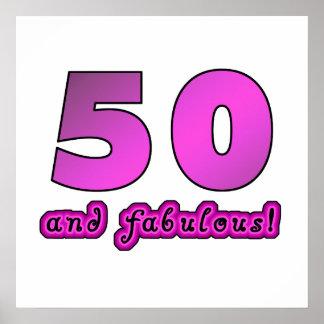 50 y cumpleaños fabuloso posters