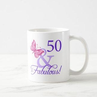 50 y cumpleaños fabuloso taza de café