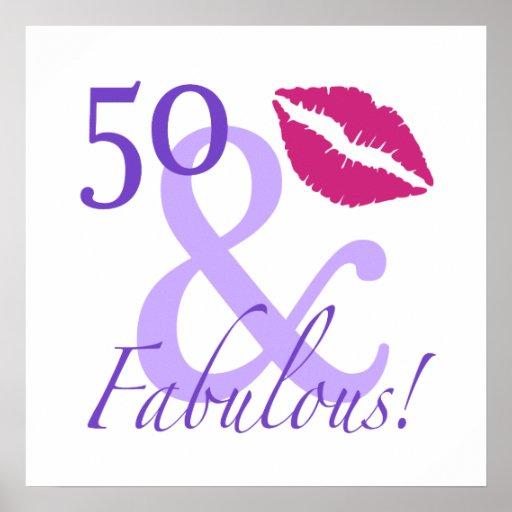 50 y fabuloso impresiones