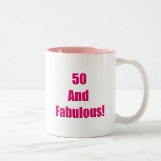 50 y fabuloso taza