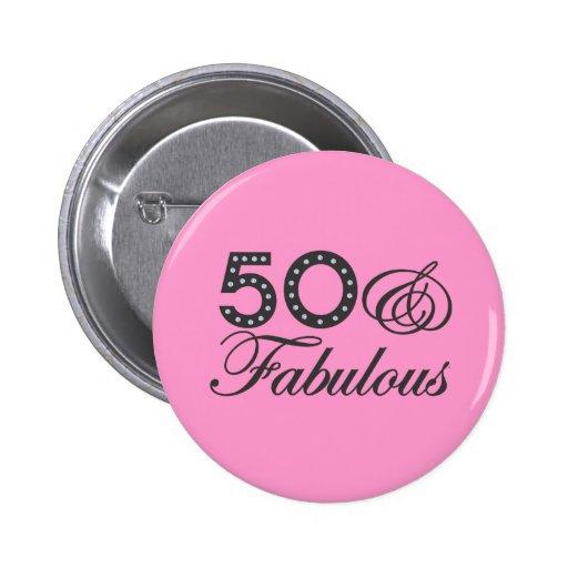 50 y regalo fabuloso pins