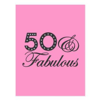 50 y regalo fabuloso tarjetas postales