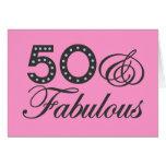 50 y regalo fabuloso tarjetón
