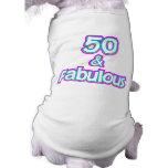 50 y regalos de cumpleaños fabulosos camiseta sin mangas para perro