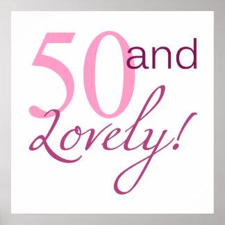 50 y regalos de cumpleaños preciosos poster