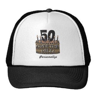 50 y sobre el 50.o nombre del cumpleaños el | DIY Gorros Bordados