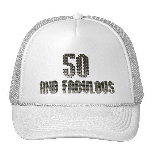 50 y tema fabuloso del disco gorro de camionero