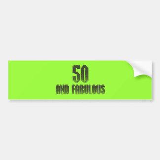 50 y tema fabuloso del disco pegatina para auto