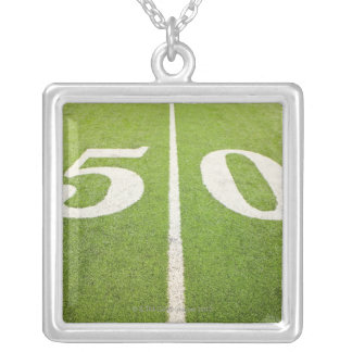 50 Yard Line Silver Plated Necklace
