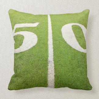 50 Yard Line Throw Pillow