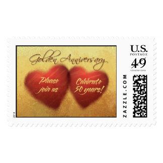 50 Year Anniversary Heart stamps