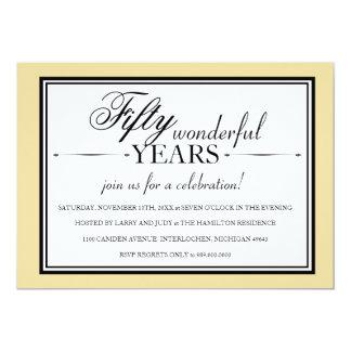 50 Year Anniversary Party Invitation