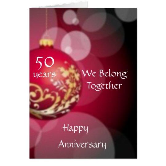 50 Year Annivesary Card