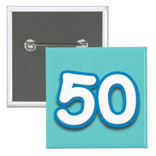 50 Year Birthday or Anniversary - Add Text Button
