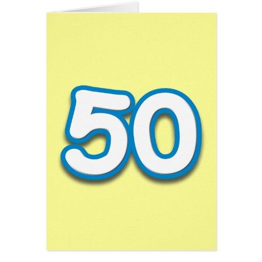 50 Year Birthday or Anniversary - Add Text Card