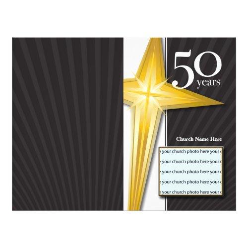 50 Year Church Anniversary Bulletin flyer