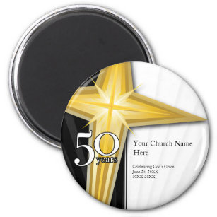 church anniversary refrigerator magnets zazzle