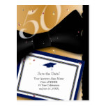 50 Year Class Reunion Save the Date BLUE Postcard