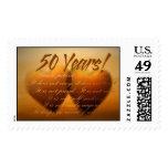50 Year Golden Anniversary Heart Stamp