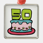 50 Year Old Birthday Cake Christmas Ornaments