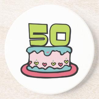 50 Year Old Birthday Cake Coaster