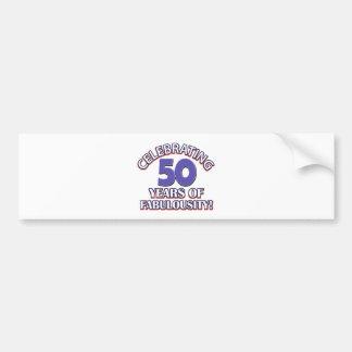 50 year old birthday design bumper sticker