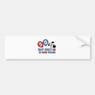 50 year old birthday design bumper stickers