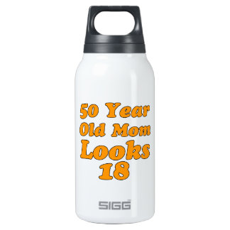 50 year old birthday design insulated water bottle