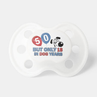 50 year old birthday design pacifier