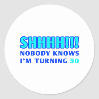 50 Year Old Gag Gift Classic Round Sticker