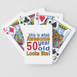50 year old looks like bicycle playing cards