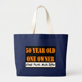50 Year Old, One Owner - Needs Parts, Make Offer Large Tote Bag