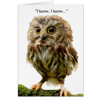 50 year old Owl birthday card