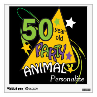 50 Year Old Party Animal | 50th Birthday Room Graphic