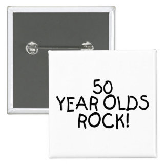 50 Year Olds Rock Button
