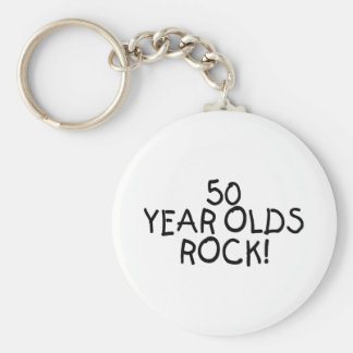 50 Year Olds Rock Keychain
