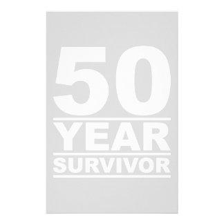50 year survivor stationery