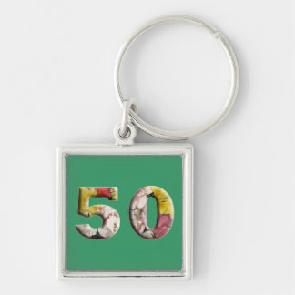 50 Years 50th Birthday Milestone Keychain