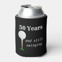 50 Years and Still Swinging Golf Ball Can Cooler