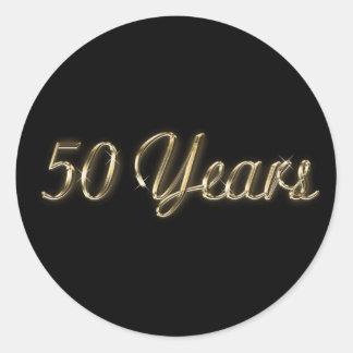 """50 Years Anniversary 1.5"""" Diamter Round Sticker"""
