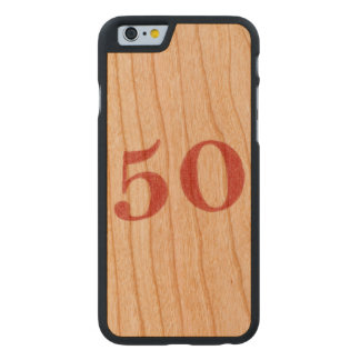 50 years anniversary carved cherry iPhone 6 slim case
