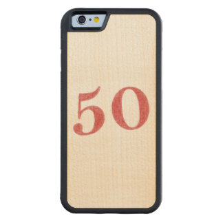 50 years anniversary carved maple iPhone 6 bumper case