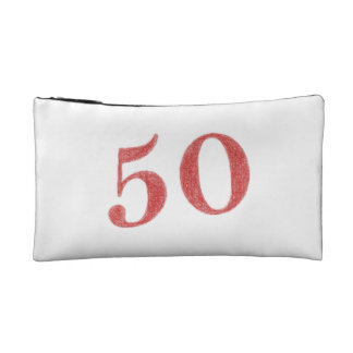 50 years anniversary cosmetic bag