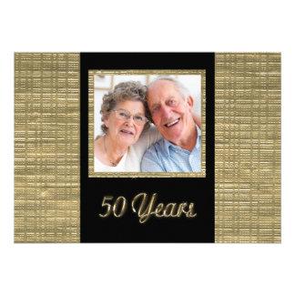 50 Years Anniversary Invitation with Photo Insert