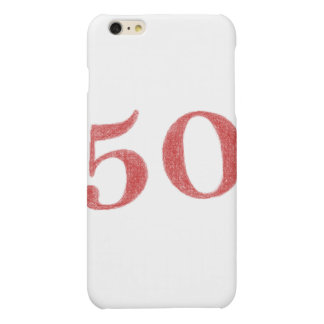 50 years anniversary matte iPhone 6 plus case
